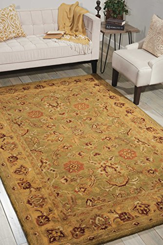 (Nourison Jaipur (JA12) Green Rectangle Area Rug, 3-Feet 9-Inches by 5-Feet 9-Inches (3'9
