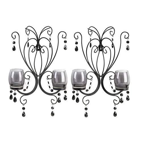 VERDUGO GIFT CO Midnight Elegance Wall Sconces