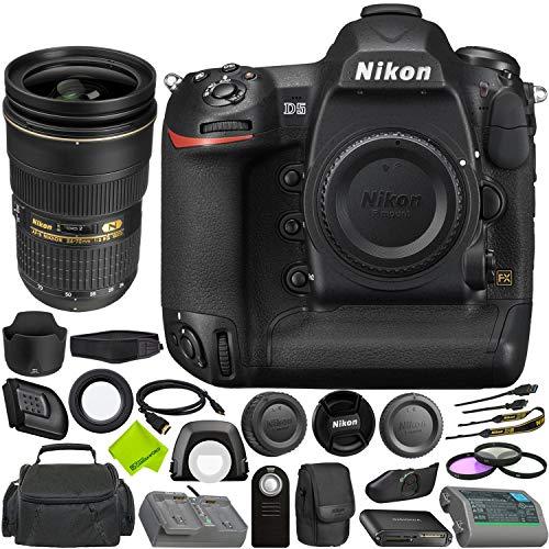 Nikon D5 DSLR Camera (Body Only, Dual CF Slots) + Nikon AF-S NIKKOR 24-70mm f/2.8G ED Lens Bundle