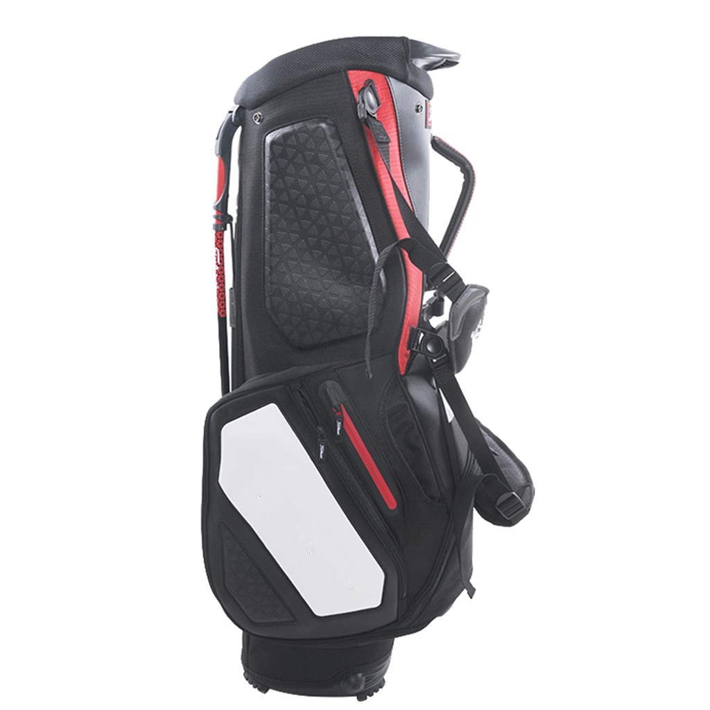 NTWXY Golf Bag, Men's and Women's Bracket Bag, Waterproof Material, Black