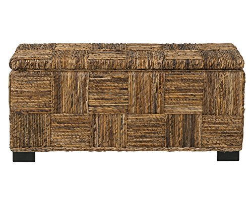 East At Main Mulberry Brown Opening Storage Bench, 39x14x18