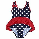 iEFiEL Baby Girls Sweet Bow Polka Dot Ruffle