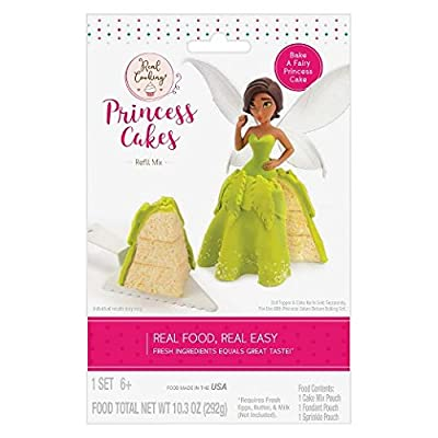Real Cooking Princess Cakes Refill Mix Green: Toys & Games