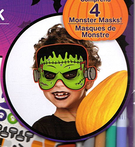 Do It Yourself Make Your Own Halloween Mask Kit for Children Ages 4+ Makes 4 Masks (Monster/Witch Mask Making (Making Your Own Costume)