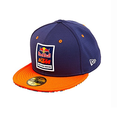 Red Bull KTM Factory Racing Mesh Fitted Hat Navy Blue 7 1/2