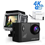 Sports Camera, SOOCOO C30 4K Action Camera 20MP 2.0 Inch Waterproof Diving Camera with 2x1350mAh Batteries and 18 Accessories Kit Included - Black + Wifi (Micro SD Card Not Included)