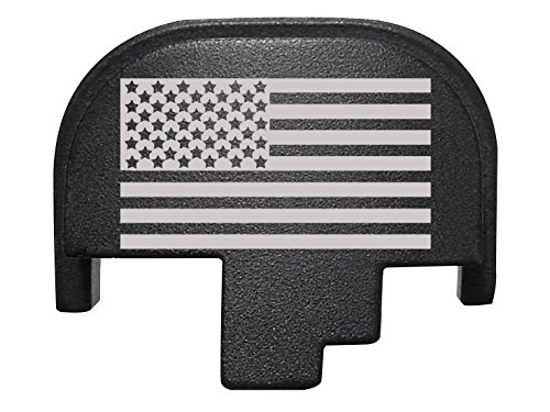 For Smith Wesson S&W M&P 9 40 45 Rear Slide Back Plate Black US Flag Inverse Alternate