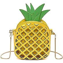 Yuboo Fruit Pineapple Shaped Women Pu Leather Clutch Purse Cross Body Bag