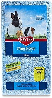 Amazon Com Kaytee Clean And Cozy Bedding Blue 500 Cubic Inch Pet Habitat Litter Pet Supplies