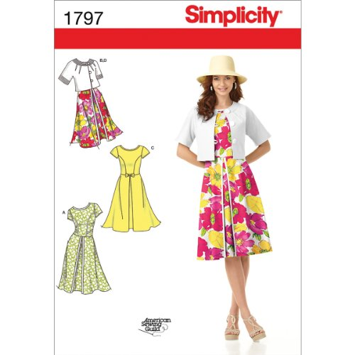 Simplicity American Sewing Guild Pattern 1797 Misses Dress and Jacket with Some Variation Sizes 16-18-20-22-24