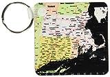 Imagen de 3dRose de Massachusetts mapa con ciudades y carreteras en colores vivos–llaveros, 2.25x 2.25inches, juego de 2(kc 174491_ 1)