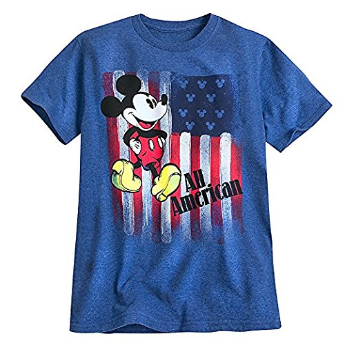 Disney Mickey Mouse Americana Tee For Men Blue