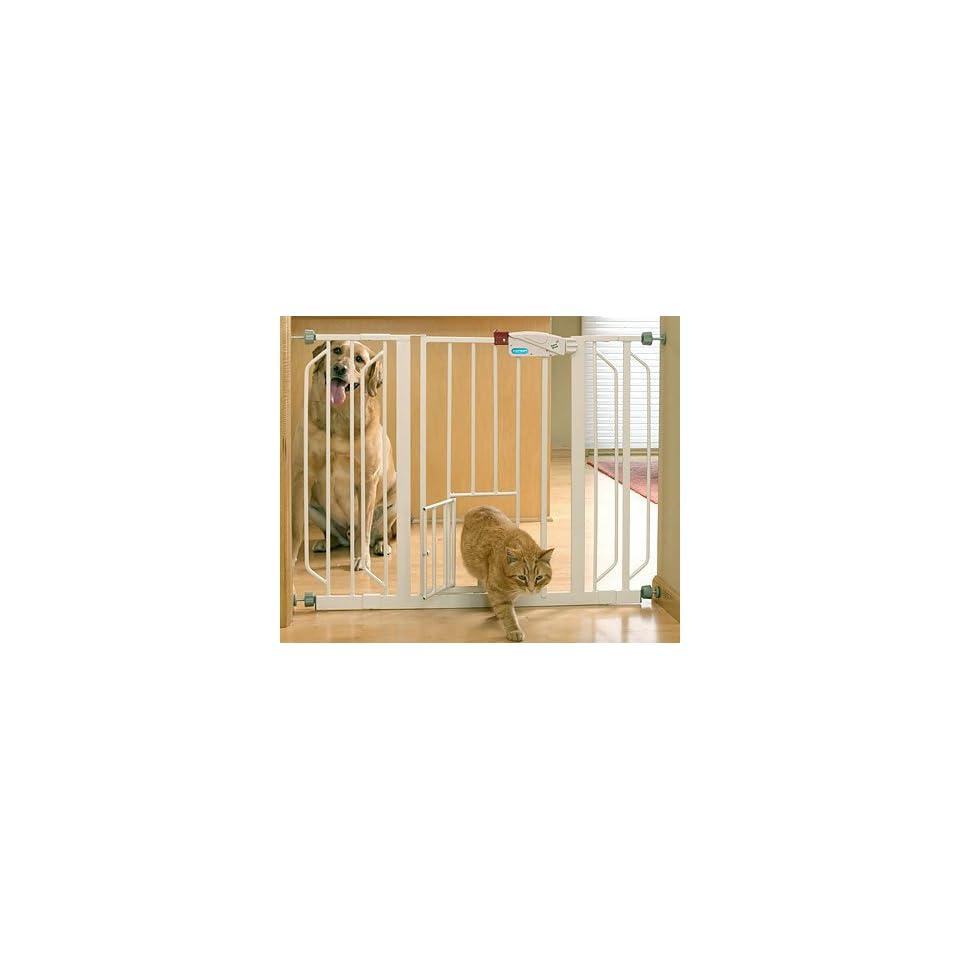 Extra Wide Pet Gate with Bonus Small Pet Door