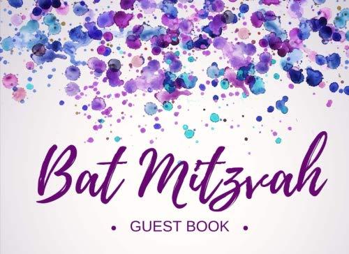 Bat Mitzvah Guest Book: Registration - Signature Memory Keepsake -  Visitor Memory Registry - Jewish Girl