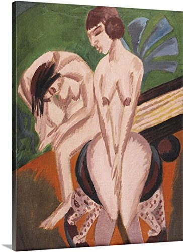 Two Nudes in the Room; Zwei Akte im Raum, 1914 Gallery-Wrapped Canvas