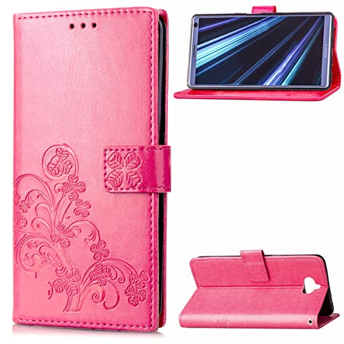 Sony Xperia XA3 Case, Gift_Source Flip Wallet Case Premium Emboss Flower PU Leather Fold Stand Cover Slim Protective Shell with Credit Card Holder for Sony Xperia XA3 (5.9