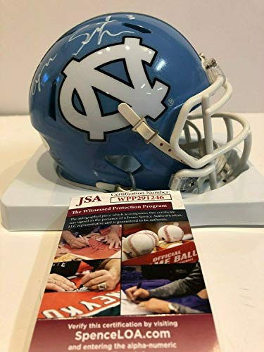 (Ryan Switzer Autographed Signed North Carolina Tarheels Mini Helmet Memorabilia JSA)