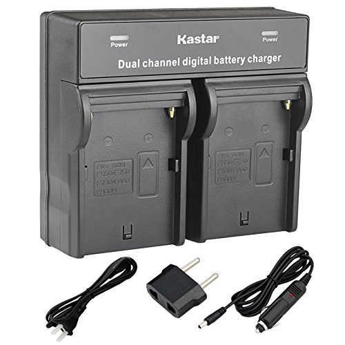 Kastar USB Dual Charger for Sony NP-F990 NP-F975 NP-F970 NP-F960 NP-F950 NP-F930 NP-F770 NP-F750 NP-F730 NP-F570 NP-F550 NP-F530 NP-F330 Battery, Sony Camcorder and LED Video Light by Kastar