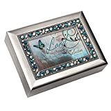Cottage Garden 129284 Music Box – Lord Is My Strength & How Great Thou Art-Teal Jeweled
