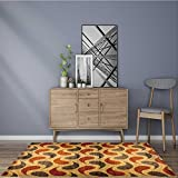 Non-Slip Bottom abstract decorative panels interior wall decoration wrapping paper design wallpaper Machine Washable 5' X 7'