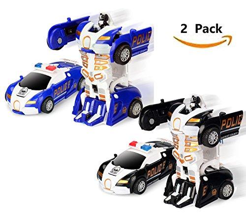 17Tek Transformers Robot Police Car Toy Pack of