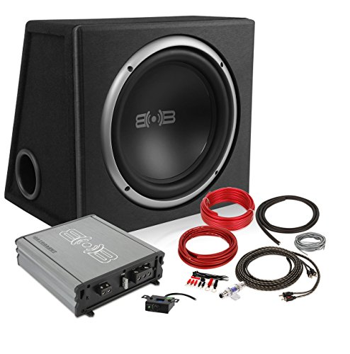 New Version 3 Belva 600 watt Complete Car Subwoofer Package Includes One (1) 12-inch Subwoofer in a Ported Box, Monoblock Amplifier, Amp Wire Kit [BPKG112V3] ()