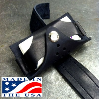 Leather EZ Pass Holder for Motorcycles _ Made in the USA