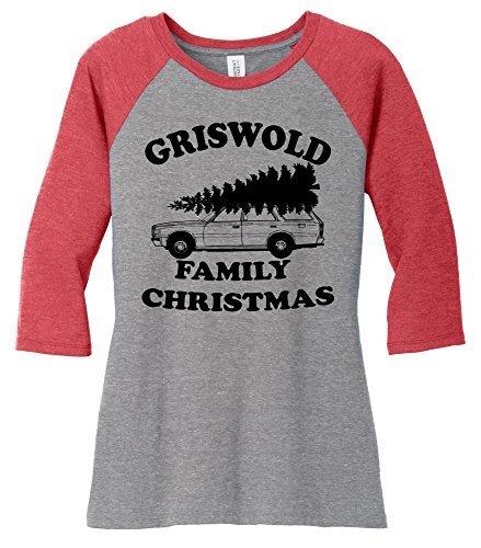 Comical Shirt Ladies Griswold Family Christmas Funny Xmas Holiday Red Frost/Grey Frost M (Family Christmas Clothes)
