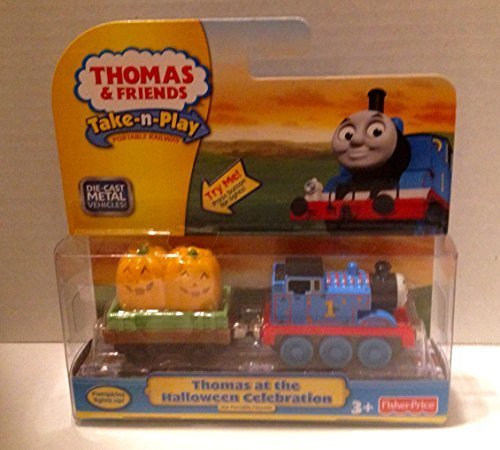 V8631 Thomas at the Halloween Celebration Take N Play Die Cast Metal Train (Thomas Train Characters)