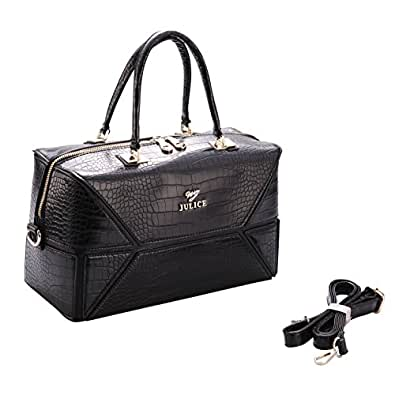 JULICE Classical Women's Handbag with Slim Handle Black