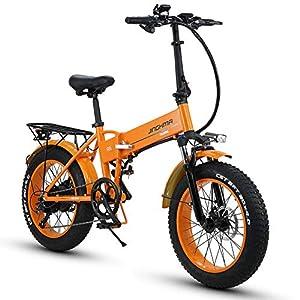 51aKVn7hKnL. SS300 HUAKAI R6 Bici Elettrica Pieghevole da 20 Pollici 350W/500W 48V 10ah/12,8ah Batteria Li-Ion LG 5 Livelli