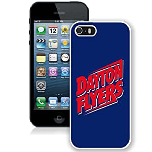 NCAA Pioneer Football League PFL Football Dayton Flyers 04 Custom Hard Shell Case For iPhone 5S White Case