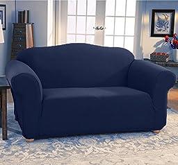 Fancy Linen 3pc sofa cover jersey strech Blue New
