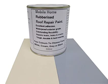 1 x 500ml Repair Leaking Roof Paint, For Mobile Home, Caravan Horse Box  etc  4 Colours to Choose From