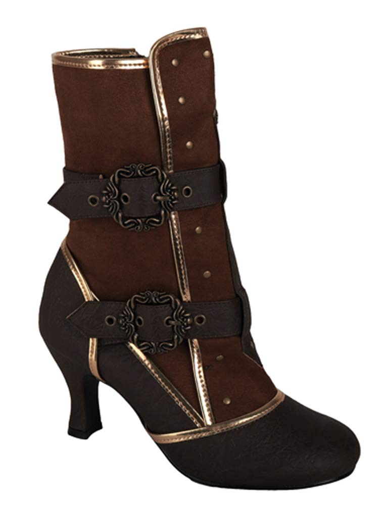Steampunk Cosplay Vintage Style Victorian Queen Joan of Arc Halloween Costume Boots 4