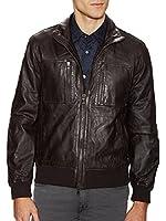 John Varvatos Star USA Men's Aviator Leather Jacket