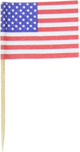 Darice Cute for Cupcakes American Flag Toothpicks, Multicolored, 200-Pack