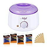 Wax Warmer Hair Removal Kit ADOFI, Lower Melting Point, Faster Wax melter with 4 flavors Hard Wax Beans and 10 Wax Applicator Sticks (2018 Upgrade Version) For Sale