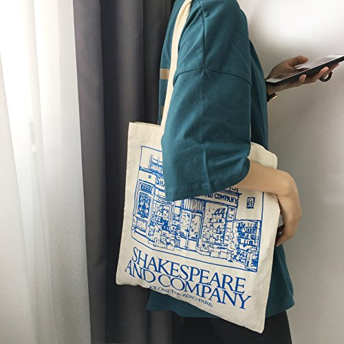 Bandolera Color Lytshop Lienzo Azul Company Mujer Bolso para Shakespeare w0tfpaqtP