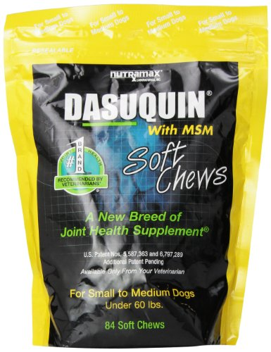 Nutramax Dasuquin with MSM Soft Chews, Small/Medium Dog, 84 Count by Nutramax Laboratories