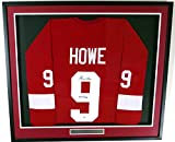 "Detroit Red Wings Gordie Howe Autographed Framed Red Jersey ""Mr. Hockey"" PSA/DNA"