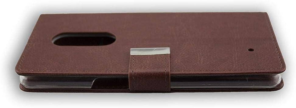 Casco para HP Elite X3, Bookstyle-Case Funda Protectora a Prueba de Golpes para Smartphone (Carcasa de Color marrón): Amazon.es: Electrónica