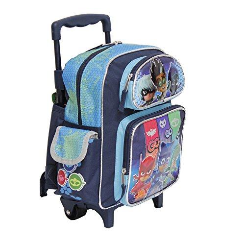 Pequeño Rolling Backpack - PJ máscara - Equipo go-go-go mochila escolar 155401: Amazon.es: Juguetes y juegos