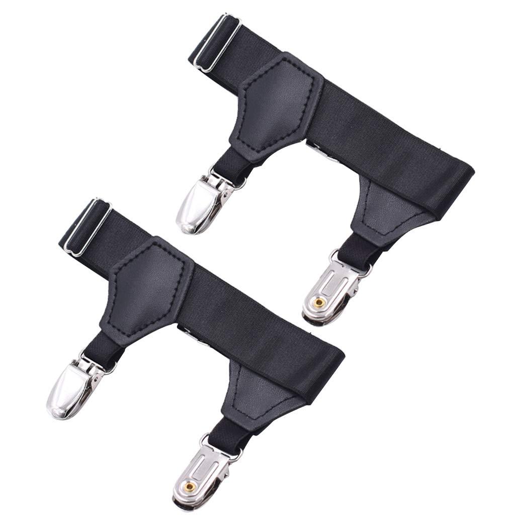 P Prettyia ソックス 靴下 ガーター ベルト サスペンダー バンド 金属クリップ 滑り止め 高弾性 1ペア   B07G881Y3K