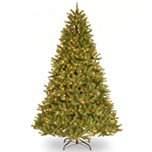 "National Tree 7-1/2 Foot ""Feel-Real"" Grande Fir Hinged Tree with 750 Clear Lights (PEGF4-307-75)"