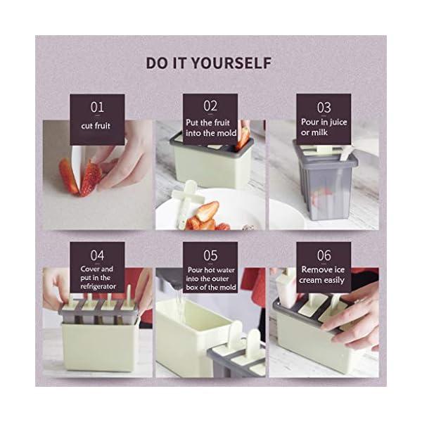Rolin Roly Set di 2 Stampi per Gelato Durevole Stampi per ghiaccioli Riutilizzabile Gelati Crema Stampo Design a Doppio… 7 spesavip