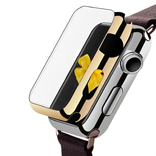 Price comparison product image Ultra-Slim Electroplate PC Hard Case Cover For Apple Watch Series 1 42mm,  Invisible Magnetic Closure, Tuscom (Black)