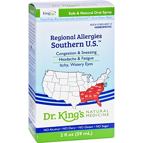 King Bio Homeopathic Regional Allergies Southern U.S. - 2 fl oz