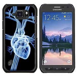 LECELL--Funda protectora / Cubierta / Piel For Samsung Galaxy S6Active Active G890A -- Corazón Anatomía Arte Humanos Amor venas de Giro --