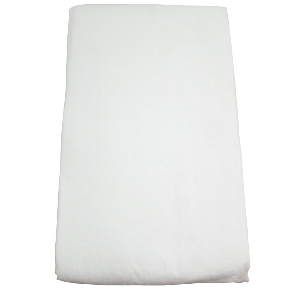 Body Linen Flannel Fitted Massage Sheet, White W67945